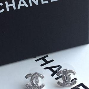 Authentic Chanel Swarovski Crystal Earring